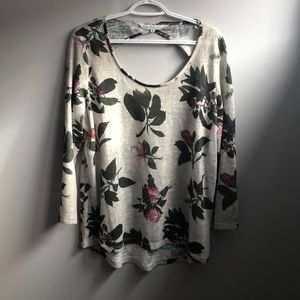 Long floral sweater